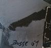 Jacques BUSSE - Gemälde - Toits la nuit