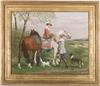 "Joan DE KROON - Gemälde - ""Gallant Scene"", Pastel, 1925"