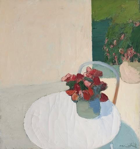 Roger MÜHL - Pintura - Le guéridon blanc