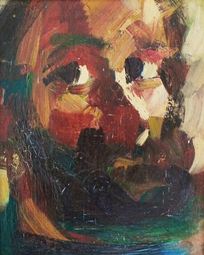 Jacques DESHAIES - Pintura - c.1976-78 Portrait présumé de Cézanne