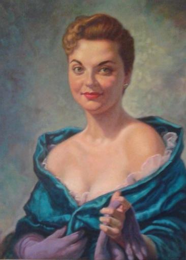 S.C. DE REGIL - Peinture - Portrait of Marian Virginia Schuster