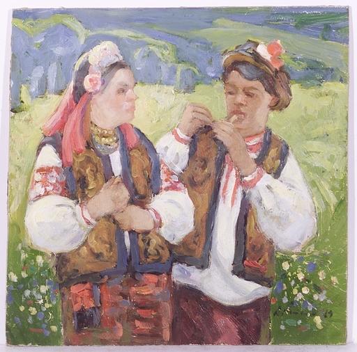 """Andrei Ilech POTAPENKO - Pittura - """"Guzuls"""", Oil Painting, 1969"""