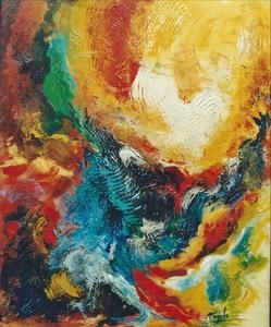 Didier ANGELS - Pintura - Apparition de l'ange