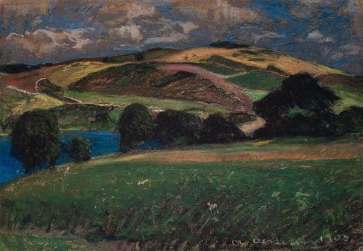 Alfred OESTERITZ - Disegno Acquarello - Landschaft