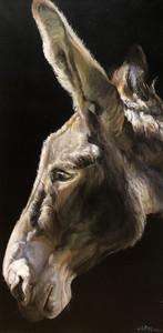Gilles CAPTON - Peinture - Âne de profil