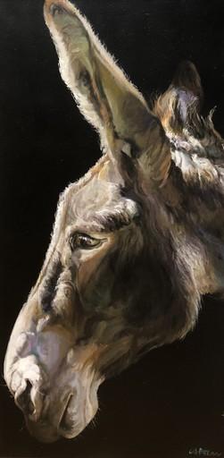 Gilles CAPTON - Pintura - Âne de profil