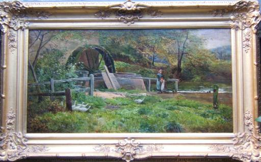 Sidney Richard PERCY - Painting - At the Mill
