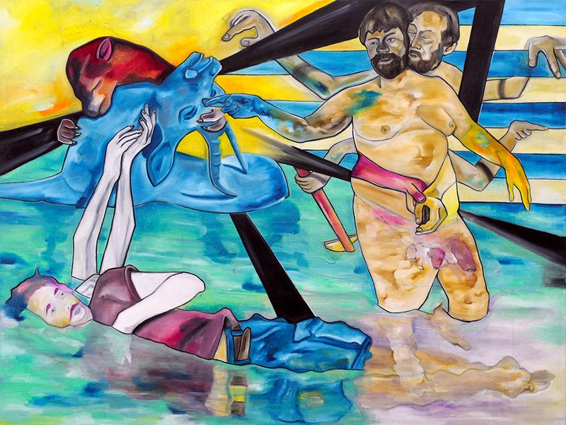 Christian BAZANT-HEGEMARK - Painting - Embracing What's Left: Kali