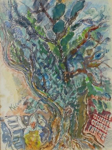 Michel KIKOINE - Dessin-Aquarelle - Le grand arbre