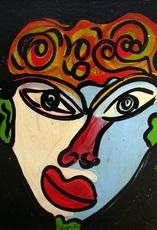Peter Robert KEIL - Painting - Junge Frau mit Blumenhut