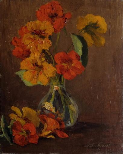 Adolphe ALBERT - 绘画 - Bouquet de fleurs