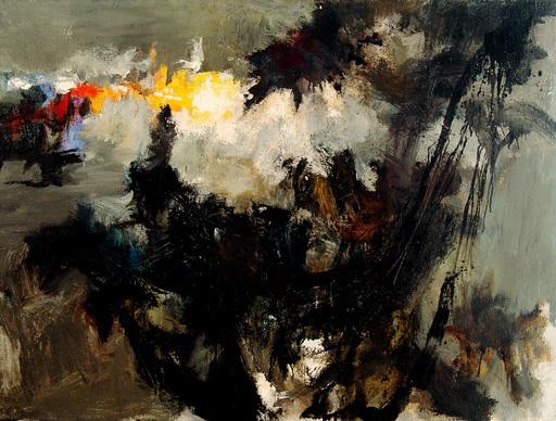 Heinz KREUTZ - 绘画 - AN DIE DUNKLE SONNE - 1957