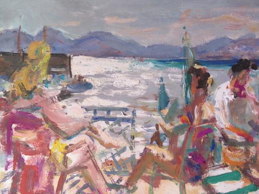Marius WOULFART - Painting - Bord de mer