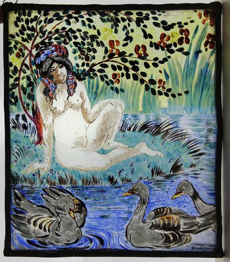 Georges MANZANA-PISSARRO - Pittura - la baigneuse aux canards
