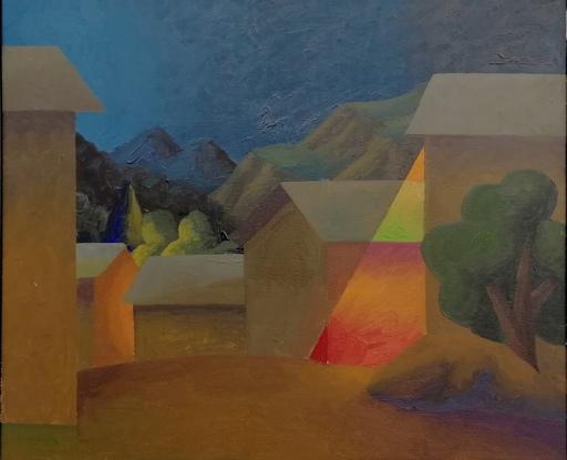 SALVO - Pintura - Sera al villaggio