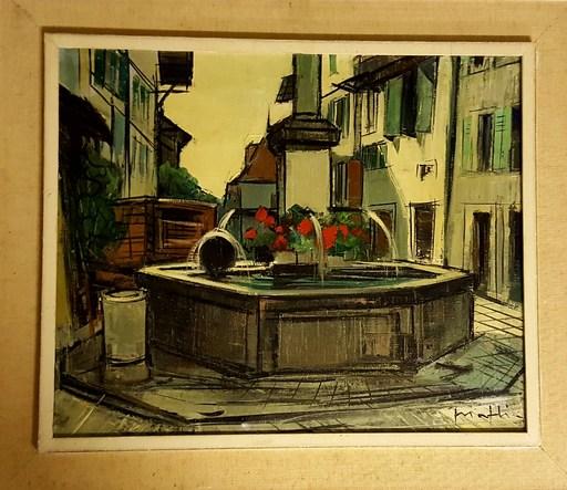 Walter MAFLI - Peinture - vue de village