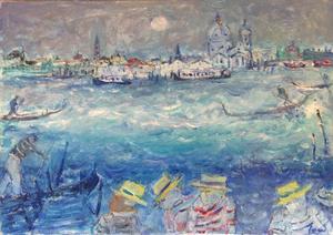 Jean FUSARO - Pintura - Les gondoliers