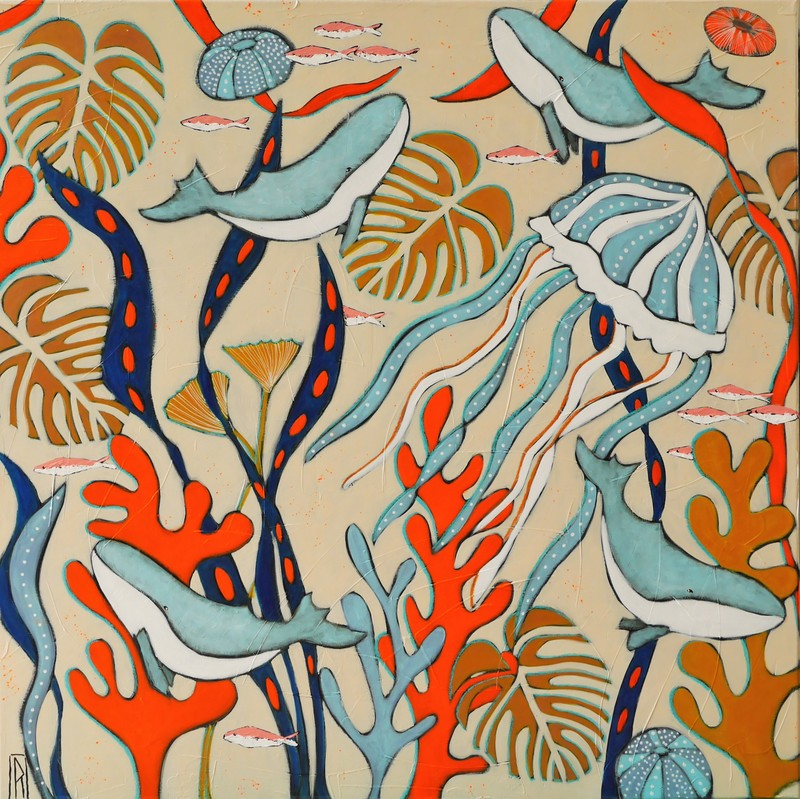Raoul P. BROSSEAU - Painting - Sous nos pieds