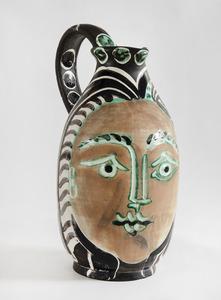 Pablo PICASSO - Ceramic - Femme du barbu (A.R.193)