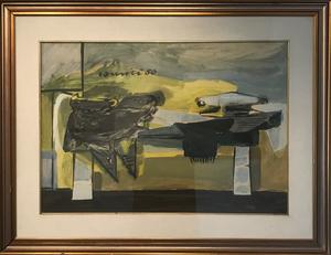 Sergio ROMITI - Dessin-Aquarelle - Stireria, 1950