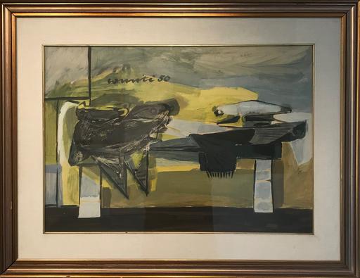 Sergio ROMITI - Drawing-Watercolor - Stireria, 1950