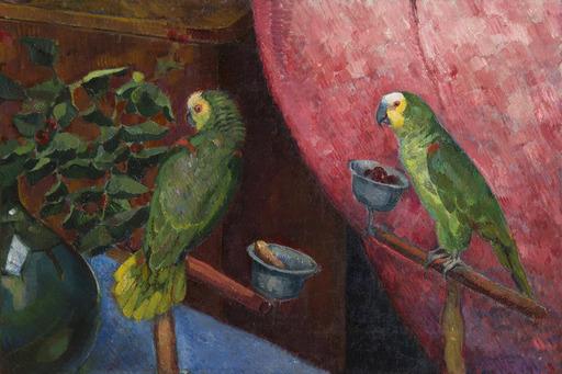 Angel ZARRAGA ARGÜELLES - Painting - Composition aux perroquets
