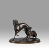 Pierre-Jules MÈNE - Sculpture-Volume - Jiji et Giselle