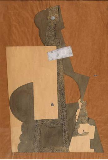 Henri LAURENS - Dibujo Acuarela - Composition avec personnages