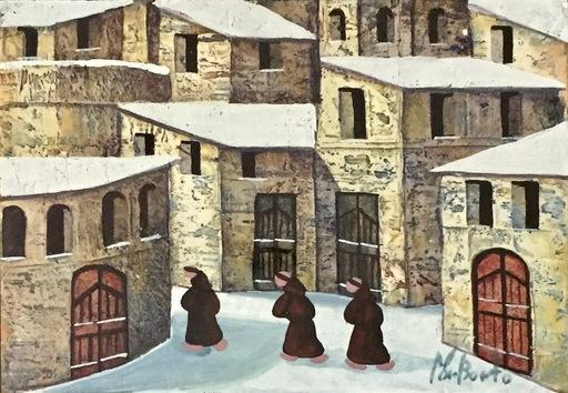 Norberto PROIETTI - Peinture - I tre monaci
