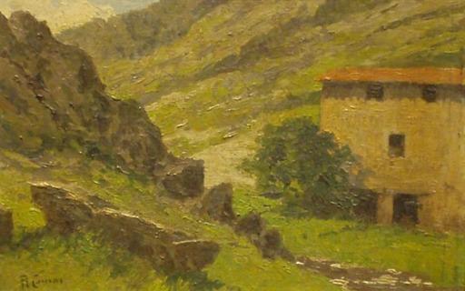 Augusto COMAS Y BLANCO - Peinture - Miraflores de la sierra