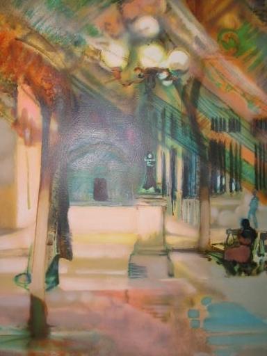 Paul AMBILLE - 版画 -  Paris:La Place de Furstemberg,1992.