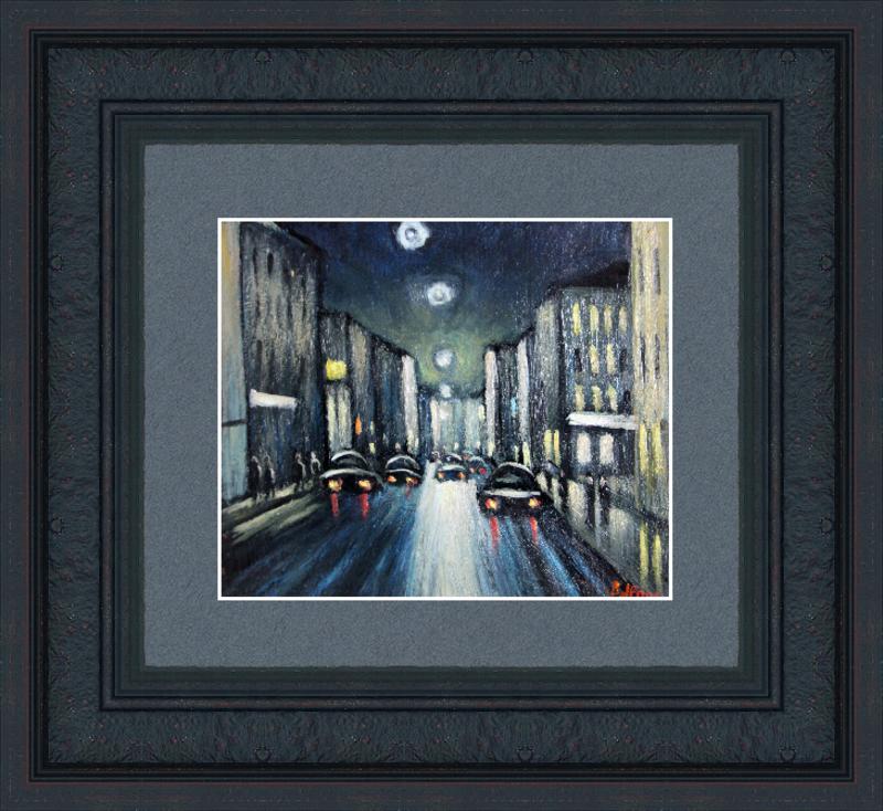 Valeriy NESTEROV - Pintura - Night Moscow