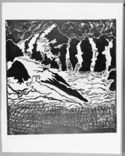Erich HECKEL - Grabado - Große Gletscherlandschaft