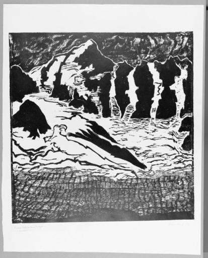 Erich HECKEL - Stampa-Multiplo - Große Gletscherlandschaft