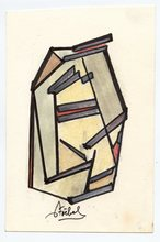 Edgar STOEBEL - Dibujo Acuarela - DESSIN AU PASTEL FEUTRE SIGNÉ SIGNED PASTEL DRAWING