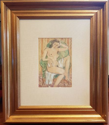 Théodor PALLADY - Drawing-Watercolor - Nude (Yyvonne Cousin's Portrait)