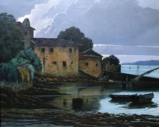 Abelardo BUSTAMANTE ALVARADO - Pintura - EL BERBES CON CIES AL FONDO