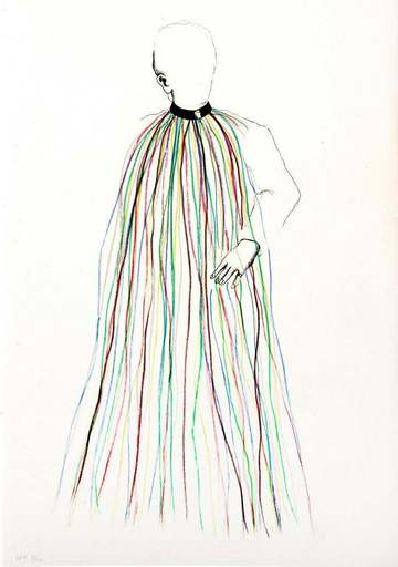 Jim DINE - Stampa-Multiplo - Dorian Gray in Multi-Colored Vinyl Stripe Cape