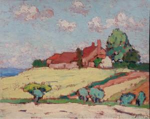 """Pierre MOLINIER - Painting - """"PAYSAGE DU LOT-ET-GARONNE 1930"""""""