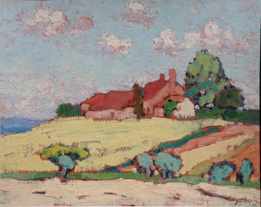 """Pierre MOLINIER - Pintura - """"PAYSAGE DU LOT-ET-GARONNE 1930"""""""