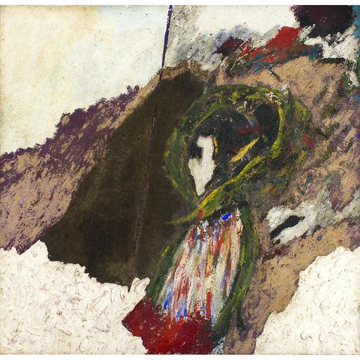 Pier Paolo CALZOLARI - Gemälde - Senza titolo (Serie dei capricci), 1982