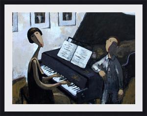 Ramaz ROSTOMASHVILI - Gemälde - Descant