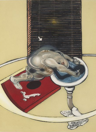 弗朗西斯•培根 - 版画 - L'homme au lavabo