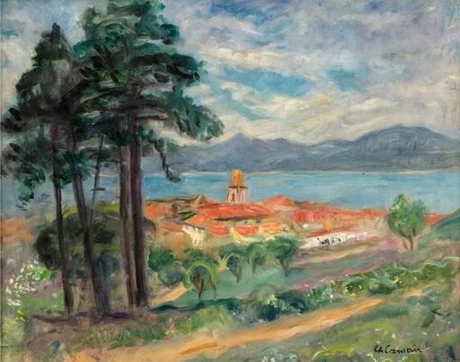 Charles CAMOIN - Painting - Le Clocher de Saint-Tropez, vue de la citadelle
