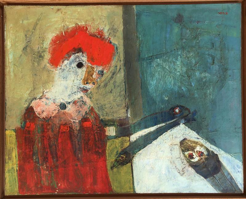 Aharon MESSEG - Pittura - Girl and Still Life