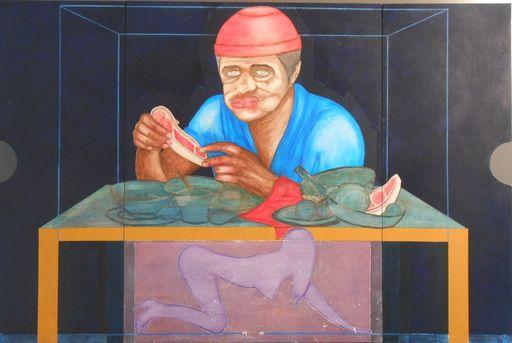 Christian SATIN - Painting - OX2    (Cat N° 5515)