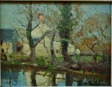 Paul RUE - Pittura - Moulin en Creuse