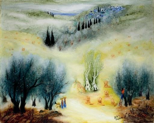 Reuven RUBIN - Painting - Landscape near Sefat
