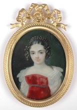 "Karl Josef Aloys AGRICOLA - Miniature - ""Princess Lichnowsky"" Important miniature, 1810's"