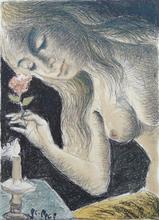 Paul DELVAUX - Grabado - The Siren | La Sirène